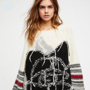 Free People One Rose  Sweater, Sz M/L EUC